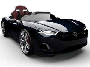 Luxus Kinder Elektroauto schwarz mit Tablet PC